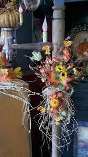 C & C Furnishings: FALL HAS ARRIVED! Primitive Homes, Primitive Fall, Fall Store Displays, Fall Harvest Decorations, Berry Garland, Autumn Display, Store Interiors, Home Decor Store, Grapevine Wreath