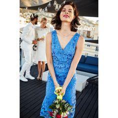 Steps blauwe kanten jurk