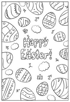 Happy Easter Doodle coloring page from Easter Doodles category. Select from 25970 printable crafts of cartoons, nature, animals, Bible and many more.