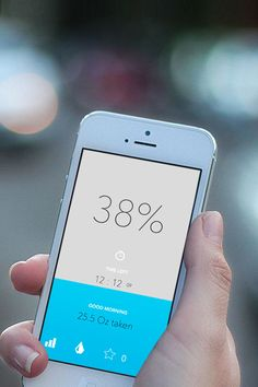 Water Consumption Calculator | Flat UI Design