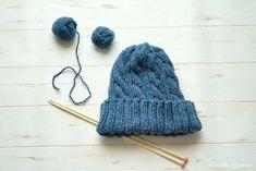 棒針編み ケーブル編みのニット帽を作ってみた Crochet Hats For Boys, Diy Fashion, Knitted Hats, Knit Crochet, Beanie, Knitting Ideas, Baby, Knit Hats, Knit Caps