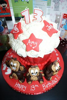 3 wise monkey's Giant Cupcake! by Cutie Cupcakes (aka Heather), via Flickr