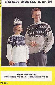 Rennaren Colour Combinations, Christmas Sweaters, Knitting Patterns, Color, Fashion, Color Combos, Moda, Knit Patterns, Fashion Styles