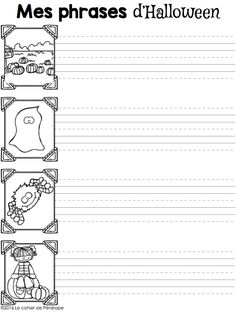 Halloween Worksheets, Halloween Activities, Theme Halloween, Holidays Halloween, Core French, French Class, Bricolage Halloween, Teaching Themes, French Immersion