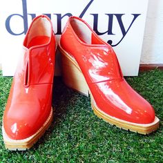 durbuy 2014 A/W - SLIT BOOTIE PATENT RED