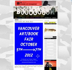 Vancouver Art/Book Fair 2012 by Florentini Pete, via Behance