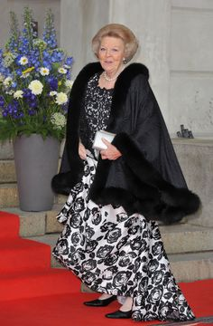 Queen Beatrix of the Netherlands  attends the Government Pre-Wedding Dinner for Crown Princess Victoria of Sweden and Daniel Westling at The Eric Ericson Hall on June 18, 2010 in Stockholm, Sweden.