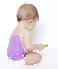 Take a look at the Melzy Baby Purple Blowout Blocker on #zulily today!