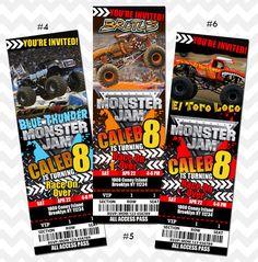 Monster Jam Invitation Monster Truck Birthday Party by PhotoGoof