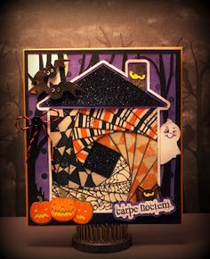 Brigit put a cute twist on the IRIS FOLD HOUSE CARD with this halloween theme! Love it!!!! (http://svgcuts.com/)