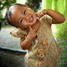 What a wonderful smile ... all joy.