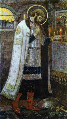 Prince Alexander Nevsky. Mikhail Nesterov. c.1895