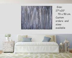 Art abstrait, peinture, toile, grand art moderne, peinture acrylique, toile art abstrait, art bleu, peinture originale, oeuvre de toile Original art abstrait - peinture sur toile avec une palette bleue profond et intense et luxueuse. Pièce de grand art moderne qui incarne et symbolise