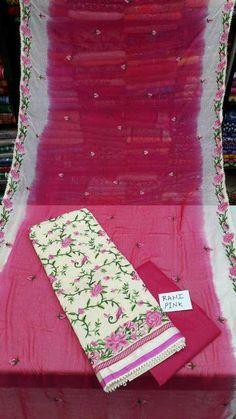 Cotton top with Kashmiri work | Elegant Fashion Wear