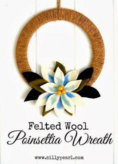 Craft idea: Felted Wool Poinsettia Wreath Tutorial http://www.thecraftideas.com/decor/craft-idea-felted-wool-poinsettia-wreath-tutorial