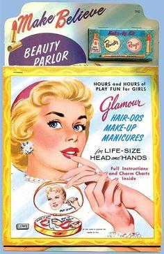 LOWE: 1959 Make Believe BEAUTY PARLOR Kit