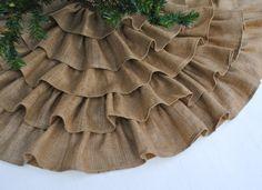 Christmas present to me? Ruffled Burlap Tree Skirt