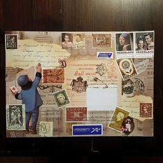 Mailart  Handmade Enveloppes by CherishedByDees on Etsy