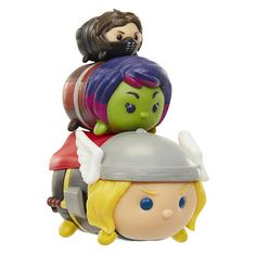 Marvel Tsum Tsum 3 Pack Series 1 - Thor, Gamora and Winter Soldier - Jakks HK… All Toys, Toys R Us, Kids Store, Learning Games, Winter Soldier, Thor, Action Figures, Fangirl, Anime