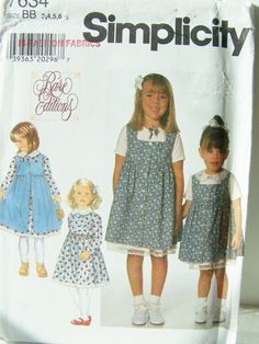SALE Simplicity 7634 Girl's Sewing Pattern by WitsEndDesign