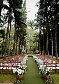 Garden Wedding Ideas Beautiful Decorations for a Fun. Talking about outdoor weddings, a garden is without question the best option, it allows for endless and limitless ideas for your ceremony and reception. Wedding Bells, Wedding Bride, Wedding Events, Wedding Ceremony, Outdoor Ceremony, Wedding Ideas, Reception, Forest Wedding, Garden Wedding