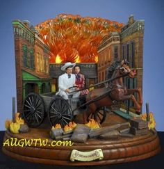 Gone with The Wind Burning of Atlanta Carriage MIB SF Music Box Retired | eBay