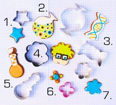 """potion bottle from an alien, DNA from Candy, scientist from a paw, beaker from a rattle, molecule from an """"x"""", slime from a flower! (Decorated Bottle Food Coloring)"""