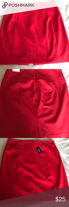Express pencil skirt Red pencil skirt size 8 Express Skirts Midi