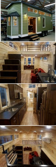 41 impressive tiny house design ideas that maximize function and style 20 Tiny H Tiny House Living Room Design Function House Ideas Impressive Maximize Style Tiny Tiny House Stairs, Tiny House Cabin, Tiny House Living, Tiny House Design, Tiny House On Wheels, Small Living Rooms, Bedroom Small, Loft Stairs, House Wall