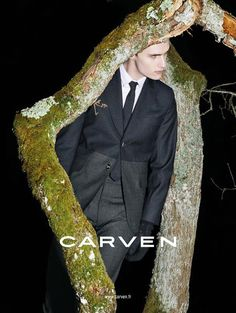 The upcoming season will be dark and brooding for Carven men, seen in the Fall/Winter 2013 advertising campaign.  The campaign stars Lukas Badnjar getting back to nature and is shot by Viviane Sassen. I just wish there were more of them!