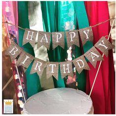New Birthday Banner Burlap Fabric Garland Ideas Happy Birthday Dog, Cool Birthday Cakes, Best Birthday Gifts, Happy Birthday Banners, Birthday Cake Toppers, Birthday Fun, Burlap Bunting, Buntings, Fabric Garland
