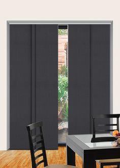 Panel Glide Blinds (Blockout) - Main Bedroom