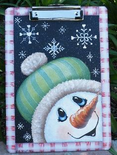 *SNOWMAN ~ Just Fine Designs Painting Patterns by Sandy LeFlore