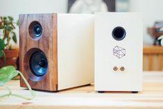 Salvage Audio is quality handmade wood speakers. Each home speaker is designed and handmade in our shop on the Central Coast of California. Diy Bookshelf Speakers, Wooden Speakers, Diy Speakers, Built In Speakers, Desktop Speakers, Bluetooth Headphones, Diy Speaker Kits, Speaker Plans, White Bookshelves