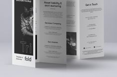 This is different view of our brochure psd tri-fold mockup template compatible with A4 and US letter sizes. Easily add your...