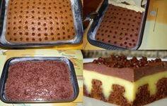 Nejlepší dírkovaný pudinkový šlehačkový koláč,který jsem kdy jedla. Je fantastický! Co budeme potřebovat: na těsto: 5 vajíček 250 g polohrubá mouka 250 g moučkový cukr 1 vanilkový cukr 1 prášek do pečiva 1 dcl olej 1 dcl voda 1 lit. mléko 2 kakaové nebo čokoládové pudinky na krém: 2 ks šlehačka v prášku 3 dcl …
