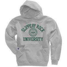 The Rock SGA Bookstore - Champion Slippery Rock University Seal Hooded Sweatshirt