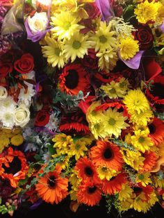 The flowers at the grocery store looked so crowded. I couldn't help but think, set them free!