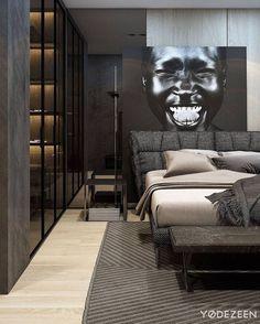 Luxe dark bedroom