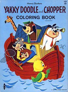 Yakky Doodle & Chopper Coloring Book Vintage Coloring Books, Vintage Cartoon, Vintage Children's Books, Vintage Comics, Retro Cartoons, Old Cartoons, Classic Cartoons, Funny Cartoons, Classic Cartoon Characters