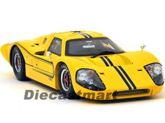 SHELBY COLLECTIBLES 1:18 SC421 1967 FORD GT MK IV YELLOW DIECAST MODEL CAR NEW #ShelbyCollectibles #Ford