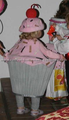 Homemade Cupcake Costume using a lamp shade. Halloween 2012?