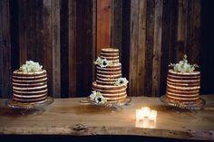 Naked wedding cakes very rustic Perfect Wedding, Our Wedding, Dream Wedding, Wedding Stuff, Wedding Black, Wedding Cake Rustic, Wedding Cakes, Whimsical Wedding, Wedding Cake Inspiration