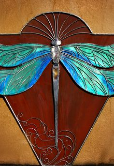 Dragonflies Sculpture - Dragonfly Dreams by Laura Knight Dragonfly Stained Glass, Stained Glass Tattoo, Dragonfly Art, Glass Butterfly, Dragonfly Tattoo, Stained Glass Art, Stained Glass Projects, Stained Glass Patterns, Mosaic Patterns