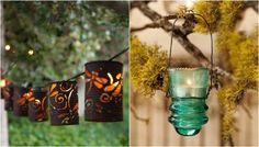 Примеры оформления красивых садовых фонариков своими руками. Outdoor Lighting, Outdoor Decor, Bird Feeders, Candle Sconces, Wall Lights, Candles, Home Decor, Garden Lanterns, Gardens