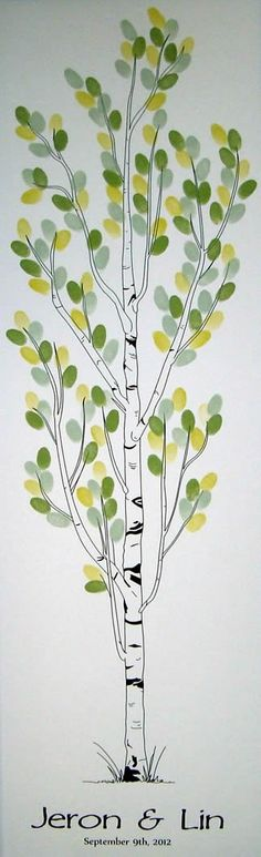 Wedding Tree Thumbprint tree...what an awesomely perfect idea for a FALL wedding!