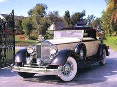 1934 Packard V 12 Convertible Coupe Maintenance of old vehicles: the material for new cogs/casters/gears/pads could be cast polyamide which I (Cast polyamide) can produce Cars Vintage, Retro Cars, Antique Cars, Ford Gt, Audi Tt, Bugatti Veyron, Automobile, Classy Cars, Old Classic Cars