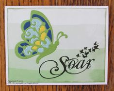 Lori's Kreations: Scrapy Land Challenge #107 Yellow Paper, Green Paper, Green Butterfly, Gift Certificates, Distress Ink, Beautiful Butterflies, Go Shopping, Card Stock, Challenges