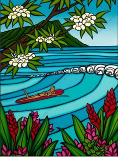 """""""Waikiki Surf Girl"""" by North Shore Artist Heather Brown for Wyland Gallery Heather Brown Art, Style Surfer, Graffiti, Hawaiian Art, Sup Yoga, Into The Fire, Painting Of Girl, Sports Art, Surf Girls"""