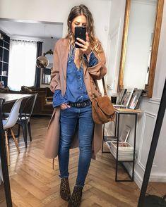 Avec gilet sous le manteau ✔ Source by sazi fashion classy Mode Outfits, Fall Outfits, Casual Outfits, Fashion Outfits, Womens Fashion, Fashion Trends, 2000s Fashion, Modest Fashion, Fashion Tips